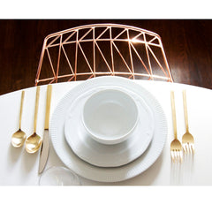 Bend Lucy Copper Chair in Room with Table Setting