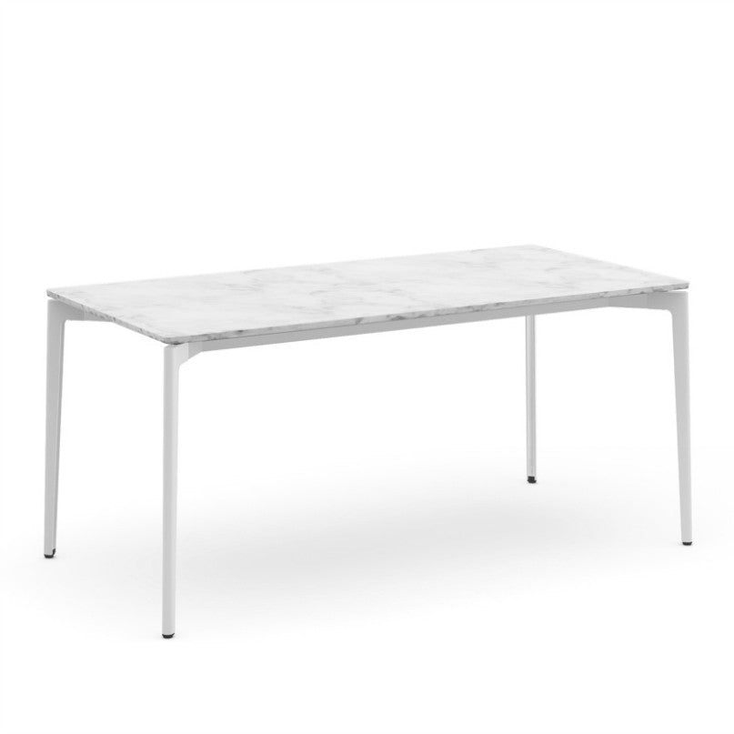 Daniel Stromborg Dining Table White Marble Top White Base Knoll