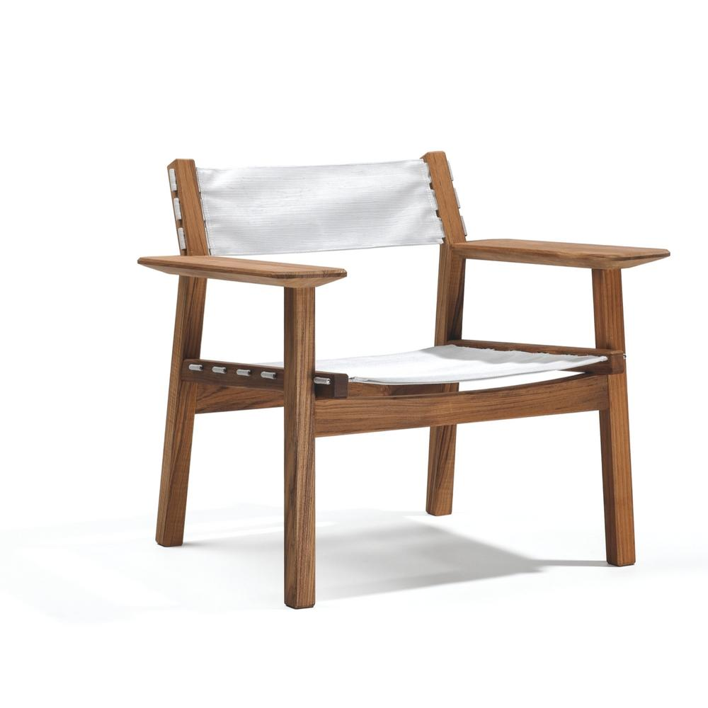 Djurö Lounge Chair with Batyline Seat and Backrest by Skargaarden