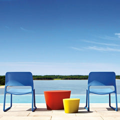 Don Chadwick Blue Spark Lounge Chairs Pool Knoll