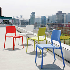 Knoll Chadwick Spark Side Chairs Bright Colors in the City