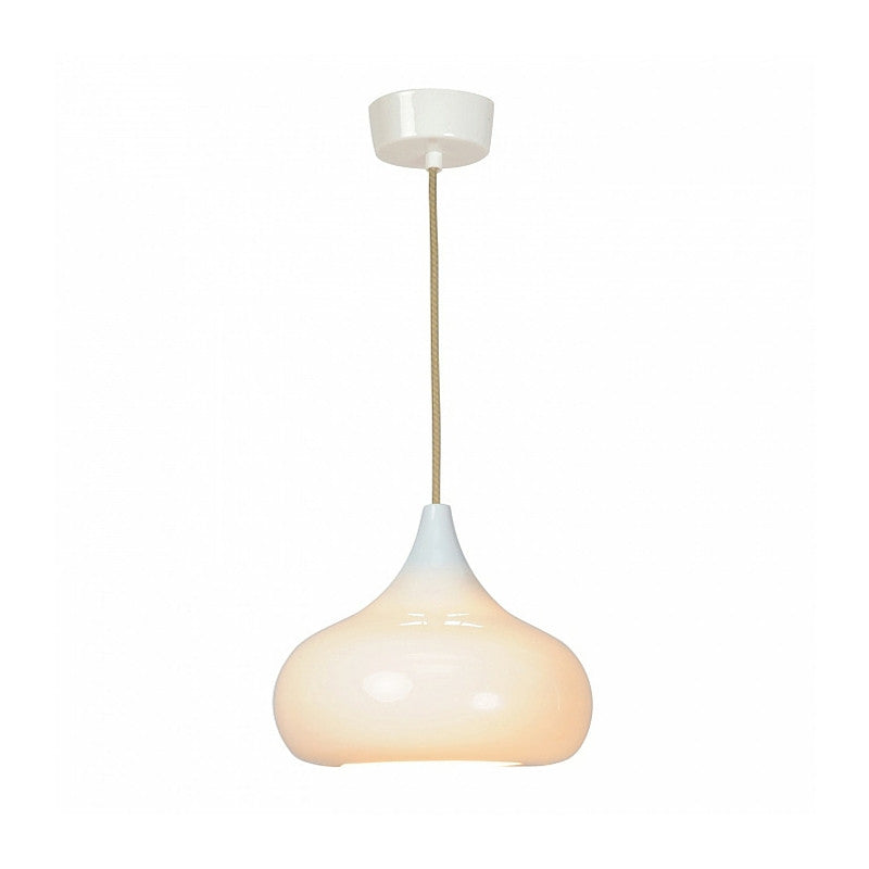 Drop Two Pendant Light White Gloss Peter Bowles for Original BTC England