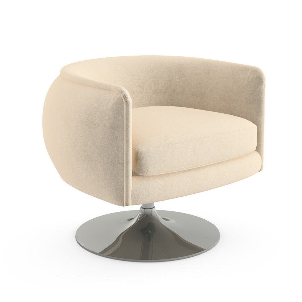 D'Urso Swivel Lounge Chair in Hopsack Stucco for Knoll
