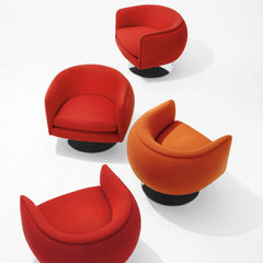 Top view of D'Urso Swivel Lounge Chairs from Knoll