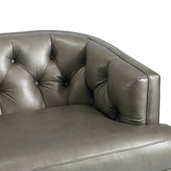 Precedent Furniture Emma Leather Sofa Reynolds Pewter Leather Detail