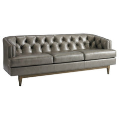 Precedent Furniture Emma Sofa Reynolds Pewter Leather