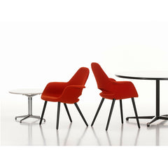 Charles and Ray Eames Organic Chair and Organic Conference Chair Poppy Red Vitra