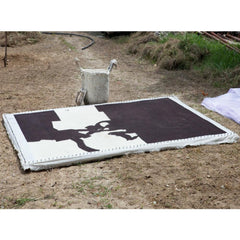 Eduardo Chillida Collage Rug being made Nani Marquina