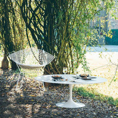 Eero Saarinen Coffee Table Bertoia Diamond Chair Outdoors Knoll