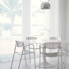 Eero Saarinen Tulip Dining Table Toledo Chairs Arco Lamp Knoll