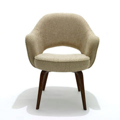 Saarinen Exeutive Arm Chair with Wood Legs Knoll Luxe