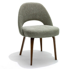 Saarinen Executive Armless Chair with Walnut Legs Knoll Luxe
