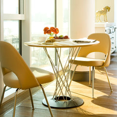 Eero Saarinen Executive Armless Chairs with Noguchi Cyclone Table Knoll