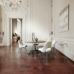 Eero Saarinen Executive Armless Chairs White in Europe Knoll