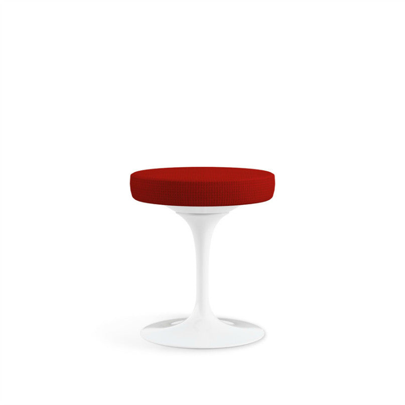 Eero Saarinen Tulip Stool Red Cushion Knoll