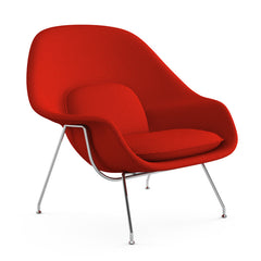 Eero Saarinen Womb Chair Cato Red Angled Front Knoll