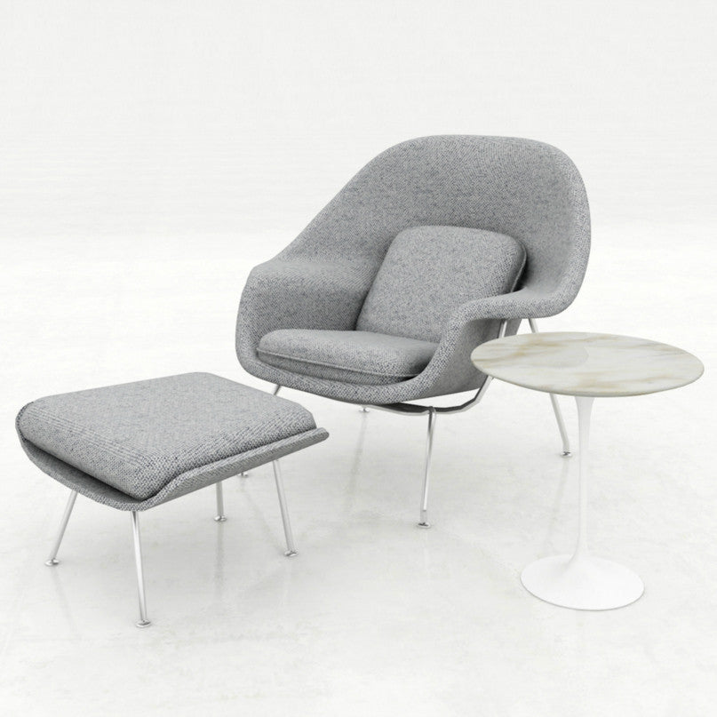 eero saarinen womb chair and ottoman grey refuge knoll