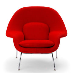 Eero Saarinen Womb Chair Red Boucle Front Knoll