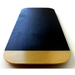 Elijah Leed Barge Serving Board Oxidized Oak and Brass Long View