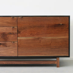 Elijah Leed Furniture Watson Credenza Walnut Door Detail