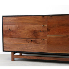 Elijah Leed Furniture Watson Credenza Walnut Drawers