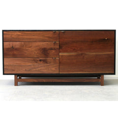 Elijah Leed Furniture Watson Credenza Oxidized Oak Solid Walnut