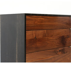 Elijah Leed Furniture Watson Credenza Oxidized Oak Detail