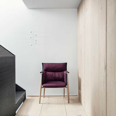 Embrace Dining Chair by EOOS for Carl Hansen & Søn in Oak with Purple Upholstery