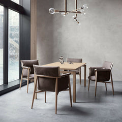 Embrace Dining Chairs by EOOS with Straight Table by Strand + Hvass for Carl Hansen & Søn