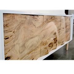 Enkle Designs Elv Media Console Spalted Maple Closeup Detail