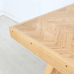 Enkle Designs Fiskebein Table Herringbone Detail