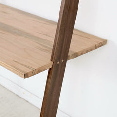 Lene Desk by Enkle Designs Walnut and Ambrosia Maple Detail