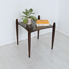 Vaeske Side Table Walnut in situ Enkle Designs