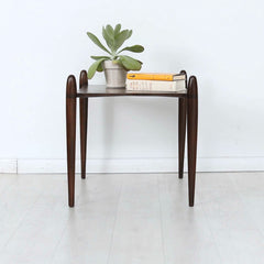 Vaeske Side Table Walnut in Room Enkle Designs