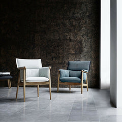 EOOS Embrace Dining Chair and Lounge Chair in Room Carl Hansen and Son