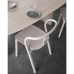 ercol Flow Chair with Pennon Dining Table Detail