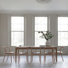 Ercol Flow Chairs by Tomoko Azumi in Room with Romana Dining Table