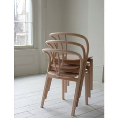 Ercol Flow Chairs by Tomoko Azumi Stacked in Room Back
