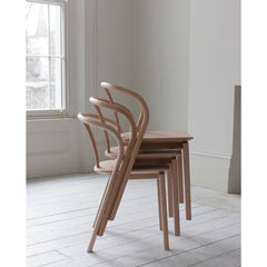 Ercol Flow Chairs by Tomoko Azumi Stacked in Room Side