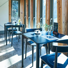ercol Lara Chairs and Luca Tables in Restaurant