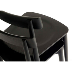 ercol Lara Chairs Stacked Black Ash Corner Detail