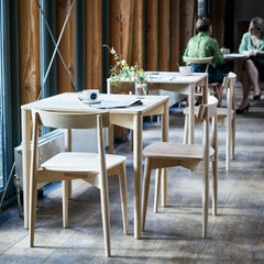 ercol Lara Chairs in Restaurant with Luca Tables