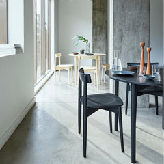 Ercol Lara Chairs with Round Luca Tables