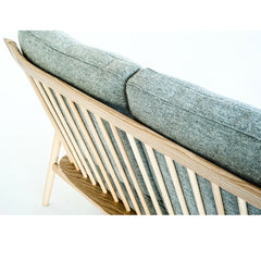 Ercol Marino Sofa Ash Frame Light Grey Upholstery Detail