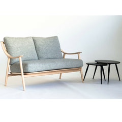 Ercol Nesting Tables with Marino Sofa