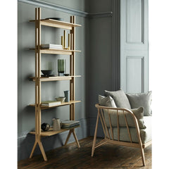 ercol Originals Nest Sofa in room with Pero Shelves by Matthew Hilton