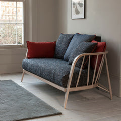 Ercol Paola Navone Nest Sofa Paprika Fabric Beech Frame in Room