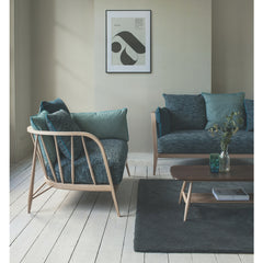 Ercol Paola Navone Nest Sofas Marine Fabric in Living Room