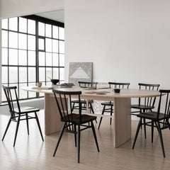 ercol Pennon Table by Norm Architects in Conference Room with ercol Originals All Purpose Chairs