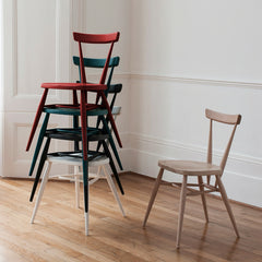 Ercol Originals Stacking Chairs with Rosso on Top